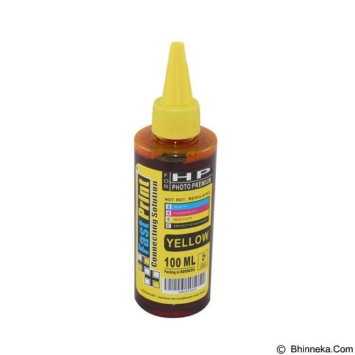 FASTPRINT Dye Based Photo Premium HP 100ml - Yellow - Tinta Printer Refill