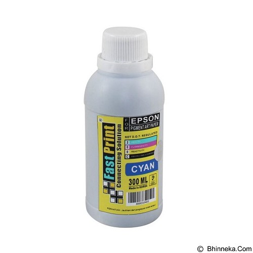 FASTPRINT Pigment Art Paper Korea Epson 300ml - Cyan - Tinta Printer Refill