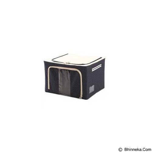 FATHIR'S SHOP Oxford Storage Box 66 L - Polkadot Biru Tua - Container