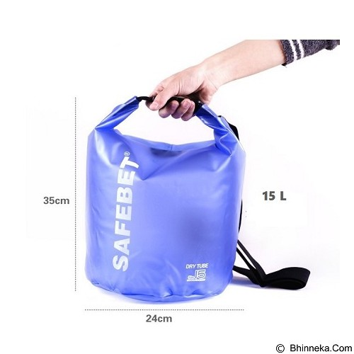 FATHIR'S SHOP Safebet Waterproof Dry Bag 15 Liter - Light Blue - Waterproof Bag