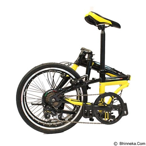 FERRARI Folding Bike 20 [AL-FDB207] - Black (Merchant) - Sepeda Lipat / Folding Bike