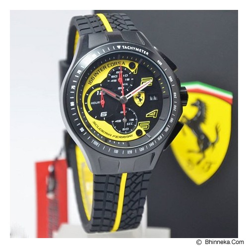 FERRARI Watch [0830078] - Black - Jam Tangan Pria Fashion