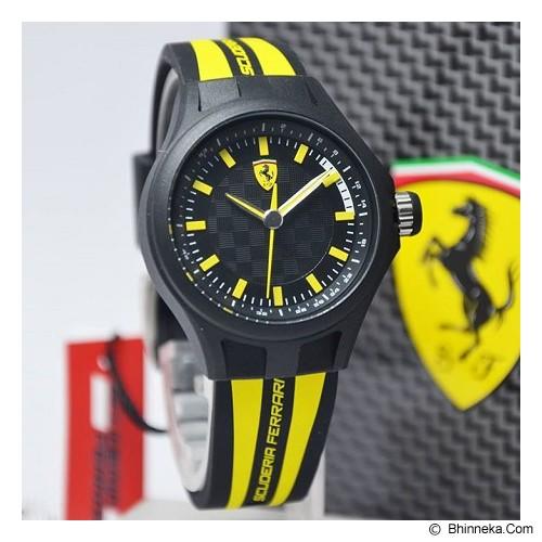 FERRARI Watch [0840001] - Black/Yellow - Jam Tangan Pria Fashion
