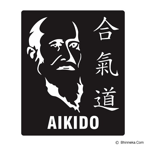 FIGHTERSTOWN Cutting Sticker Martial Arts Morihei Ueshiba Aikido - Organizer Mobil