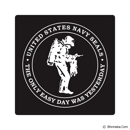 FIGHTERSTOWN Cutting Sticker U.S. Navy Seals Diver Two Colors - Organizer Mobil