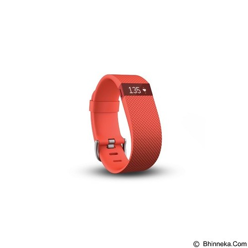 FITBIT Charge HR size L - Tangerine - Activity Trackers