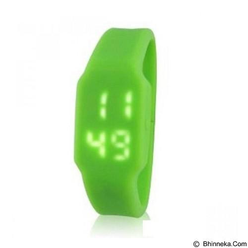 FLUX USB LED Watch Bracelet 8GB [FUSBLEDWGR8GB] - Green Rubber Strap (Merchant) - Smart Watches