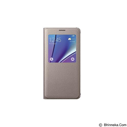 FOLIO Cover Vivo Y21 - Gold (Merchant) - Casing Handphone / Case