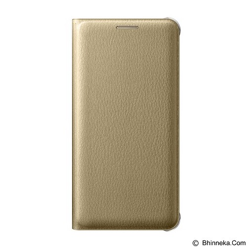 FONEL Simple Flip Wallet for Samsung Galaxy A510 - Gold (Merchant) - Casing Handphone / Case