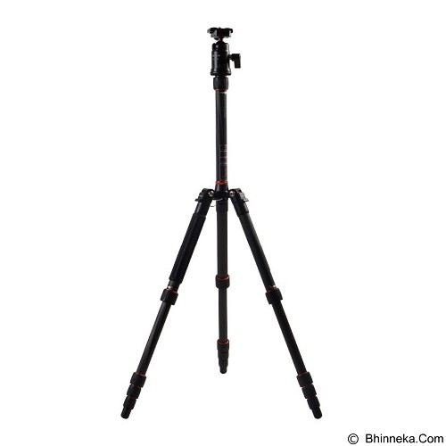 FOTOPRO Carbon Fiber Tripod [X4-CN+42Q] - Black (Merchant) - Tripod Combo With Head