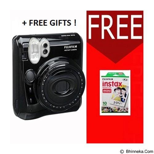 FUJIFILM Camera Instax Polaroid 50s Paket  A - Black (Merchant) - Camera Instant / Polaroid