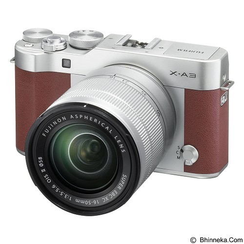 FUJIFILM Digital Camera X-A3 Kit1 + Aksesories - Brown - Camera Mirrorless
