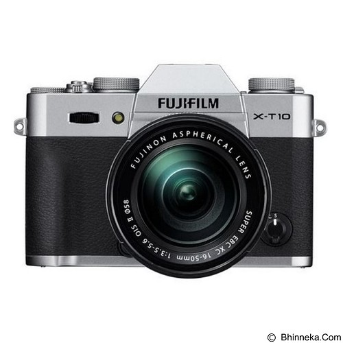 FUJIFILM Digital Camera X-T10 Kit 16-50mm - Silver - Camera Mirrorless