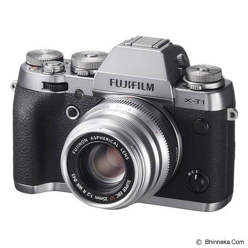 FUJIFILM Fujinon XF 35mm F2 R WR - Silver - Camera Mirrorless Lens