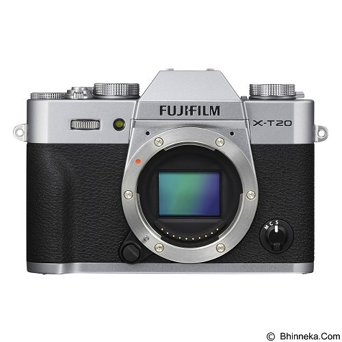 FUJIFILM Mirrorless Digital Camera X-T20 Body Only - Silver (Merchant) - Camera Mirrorless