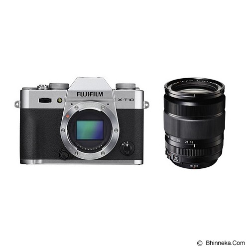 FUJIFILM Digital Camera X-T10 Kit3 - Silver (Merchant) - Camera Mirrorless
