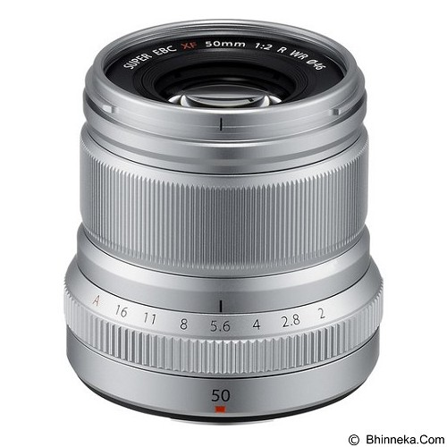 FUJIFILM XF 50mm f/2 R WR Lens - Silver - Camera Mirrorless Lens