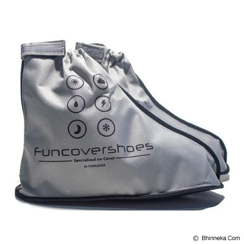 FUNCOVER Cover Shoes Jas Sepatu New 2015 Design Size XL - Silver - Jas Hujan