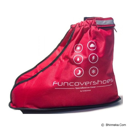 FUNCOVER Cover Shoes Jas Sepatu New 2015 Design Size XL - Merah - Jas Hujan