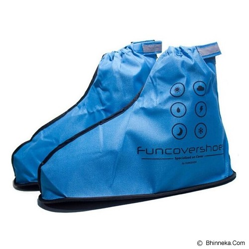 FUNCOVER Cover Shoes Jas Sepatu New 2015 Design Size XL - Biru - Jas Hujan