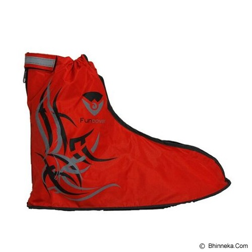FUNCOVER Cover Shoes Jas Sepatu Tribal Design Size M - Red (Merchant) - Jas Hujan