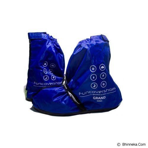 FUNCOVER Cover Shoes Jas Sepatu Grand Size L - Biru - Jas Hujan