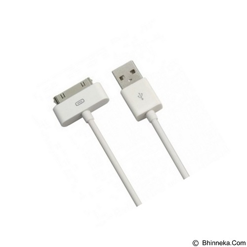 GADGET ONLINE STORE 30 Pin to USB Cable Data for iPhone/iPad/iPod [APIP1J] - White (Merchant) - Cable / Connector Usb