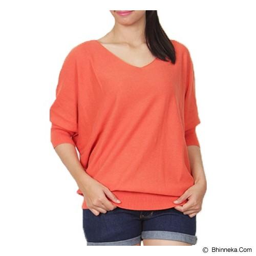 GAIA CLOTHE LINE Blouse Plaint Knet [100Orange] - Orange - Blouse dan Tunik Wanita