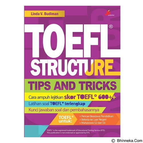 GALANGPRESS Toefl Structure: Tips and Tricks [JB000050] - Buku Soal Latihan TOEFL & IELTS