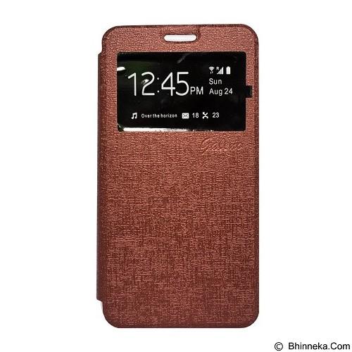 GALENO Filp Cover Oppo F1 - Brown (Merchant) - Casing Handphone / Case