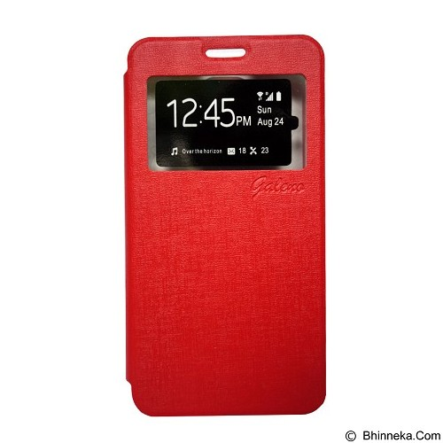 GALENO Filp Cover Oppo F1 Plus - Red (Merchant) - Casing Handphone / Case