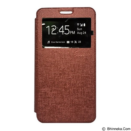 GALENO Flip Cover Samsung Galaxy Core 2 - Brown (Merchant) - Casing Handphone / Case