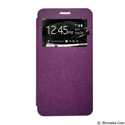 GALENO Flip Cover Vivo Y35 - Purple (Merchant) - Casing Handphone / Case
