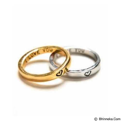 GALERY IKNO HOLIC Cincin Couple - Gold Silver (Merchant) - Cincin