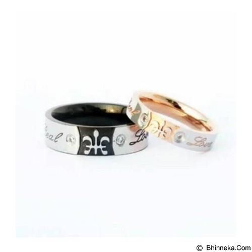 GALERY IKNO HOLIC Titanium Cincin Couple King & Queen Ring (Merchant) - Cincin