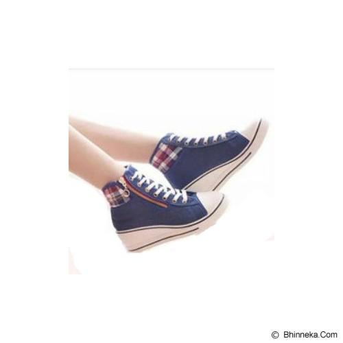 GALLERY FANNY SHOP Sneakers Size 40 [GWS-848] - Navy - Sneakers Wanita