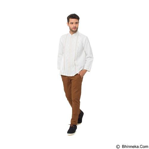 GALVANO Baju Koko Size L [LS-08-1509] - White - Baju Koko Pria