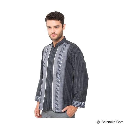 GALVANO Baju Koko Size M [LS-03-1509] - Grey Black - Baju Koko Pria