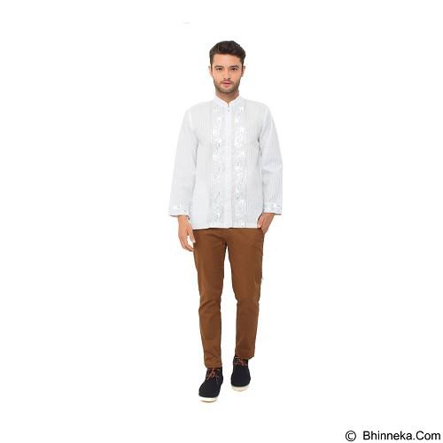 GALVANO Baju Koko Size M [LS-10-1509] - White - Baju Koko Pria