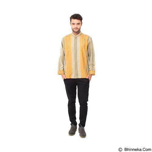 GALVANO Baju Koko Size M [LS-15-1509] - Olive Yellow - Baju Koko Pria