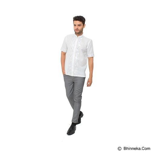 GALVANO Baju Koko Size M [SS-10-1509] - White - Baju Koko Pria
