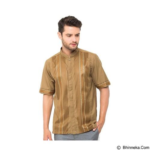 GALVANO Baju Koko Size XL [SS-02-1509] - Brown - Baju Koko Pria