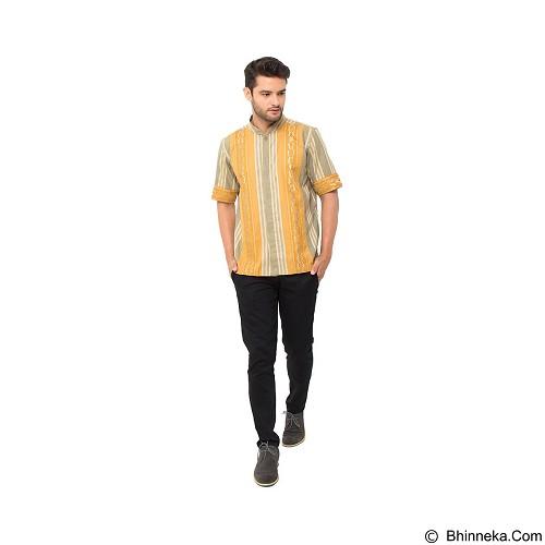 GALVANO Baju Koko Size XL [SS-15-1509] - Olive/Yellow - Baju Koko Pria