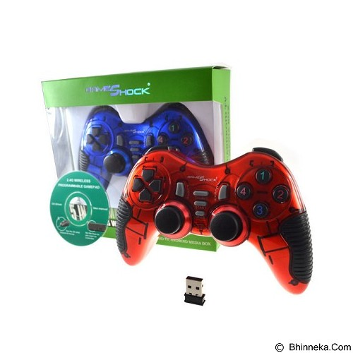 GAMESHOCK Gamepad Wireless Android Compatible [WA-2021U] - Red (Merchant) - Gaming Pad / Joypad