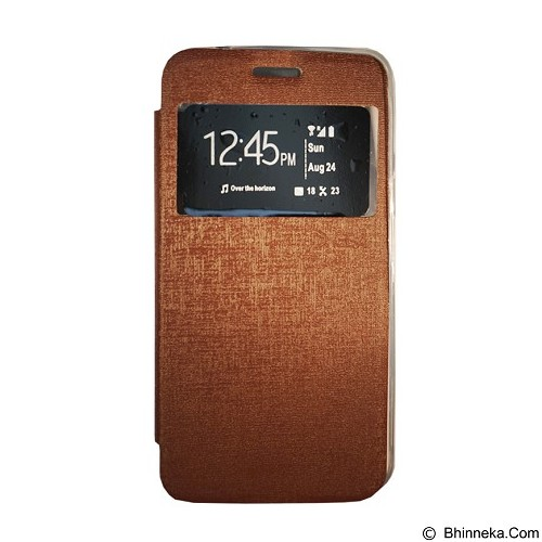 GEA Flipcover for Oppo A33t/Neo7 - Brown (Merchant) - Casing Handphone / Case