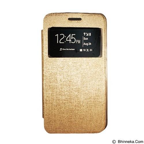 GEA Flipcover for Samsung Galaxy S6 Edge (G925) - Gold (Merchant) - Casing Handphone / Case
