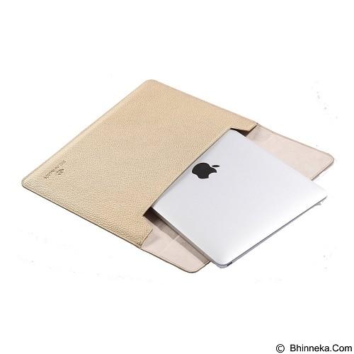 GEARMAX Envelope Waterproof PU Laptop Sleeve Case Bag 12 Inch [GM4027] - Gold (Merchant) - Notebook Sleeve
