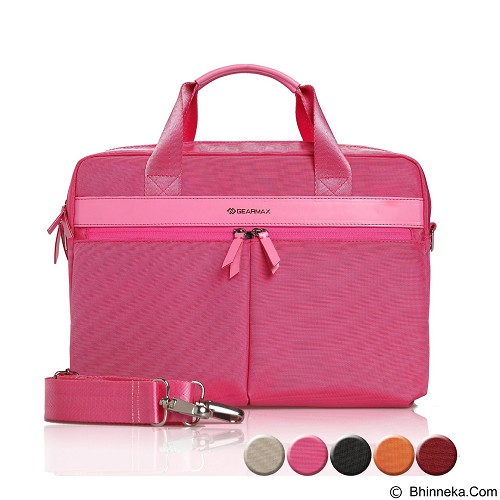 GEARMAX Canvas Nylon Oxford Business Laptop Sleeve Case Bag 13.3 - 15 Inch [GM4005] - Pink (Merchant) - Notebook Shoulder / Sling Bag