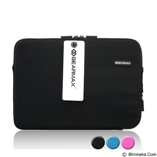 GEARMAX Classic Lycra Fabric Laptop Sleeve Case Bag 13.3 Inch [GM1701] - Black - Notebook Sleeve