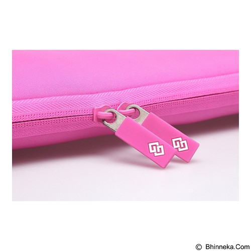 GEARMAX Classic Lycra Fabric Laptop Sleeve Case Bag 15.4 Inch [GM1701] - Pink - Notebook Sleeve